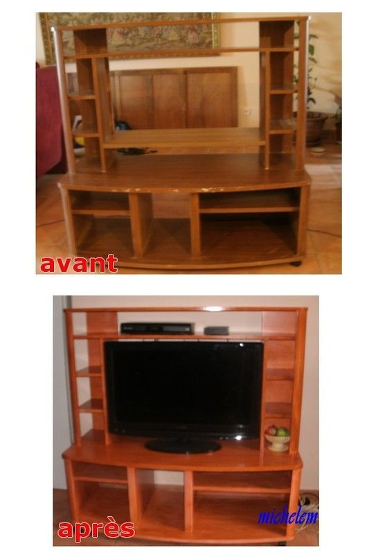 Meuble t l relook for Meuble tele fin