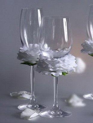 Flutes ou verres decores page 2 - Como decorar copas para boda ...
